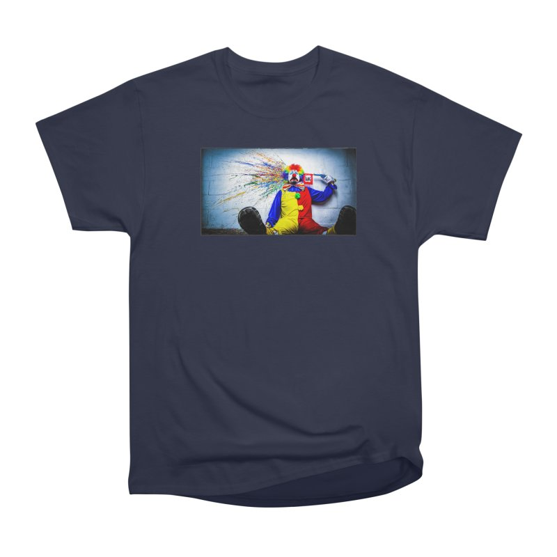 tears of a clown Women's Heavyweight Unisex T-Shirt by the twisted world of godriguezart