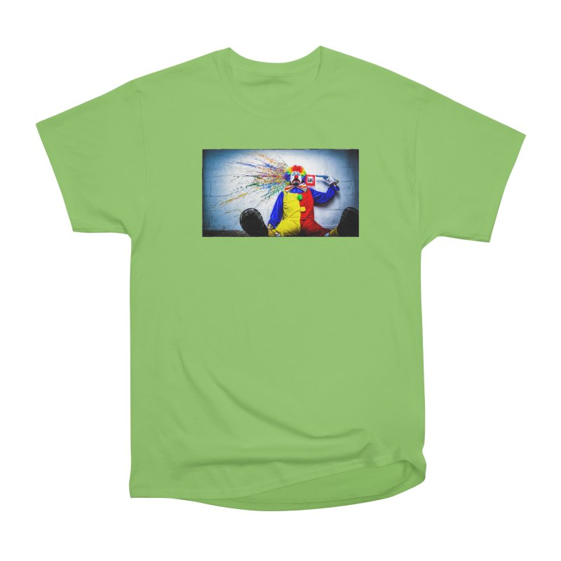 tears of a clown Men's Heavyweight T-Shirt by the twisted world of godriguezart