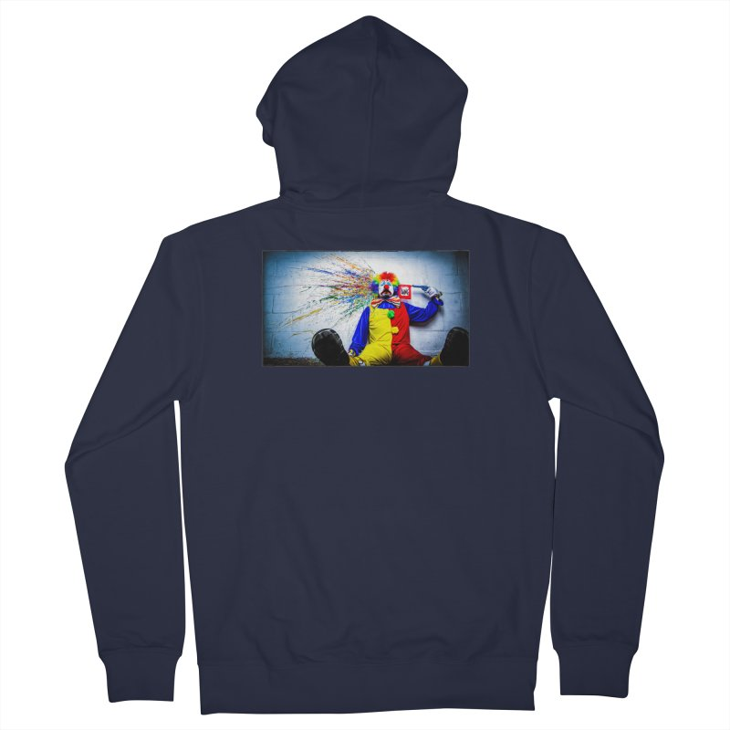 tears of a clown Men's French Terry Zip-Up Hoody by the twisted world of godriguezart