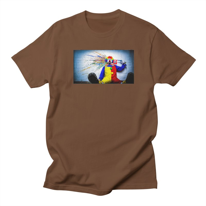 tears of a clown Men's Regular T-Shirt by the twisted world of godriguezart