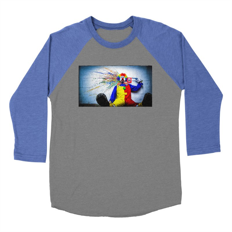tears of a clown Women's Baseball Triblend Longsleeve T-Shirt by the twisted world of godriguezart