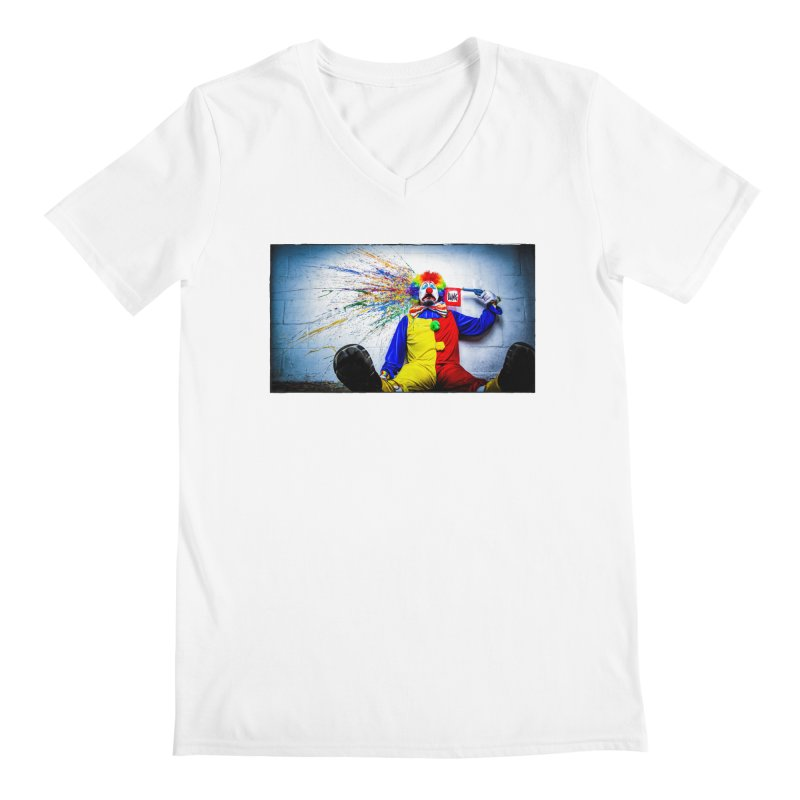 tears of a clown Men's Regular V-Neck by the twisted world of godriguezart