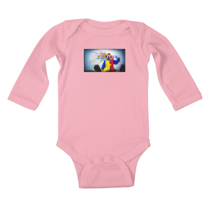 tears of a clown Kids Baby Longsleeve Bodysuit by the twisted world of godriguezart