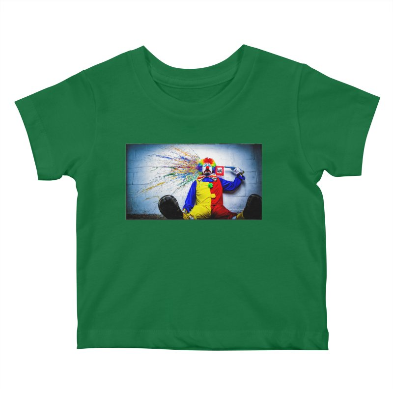 tears of a clown Kids Baby T-Shirt by the twisted world of godriguezart