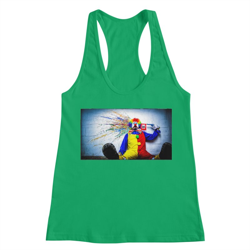 tears of a clown Women's Tank by the twisted world of godriguezart