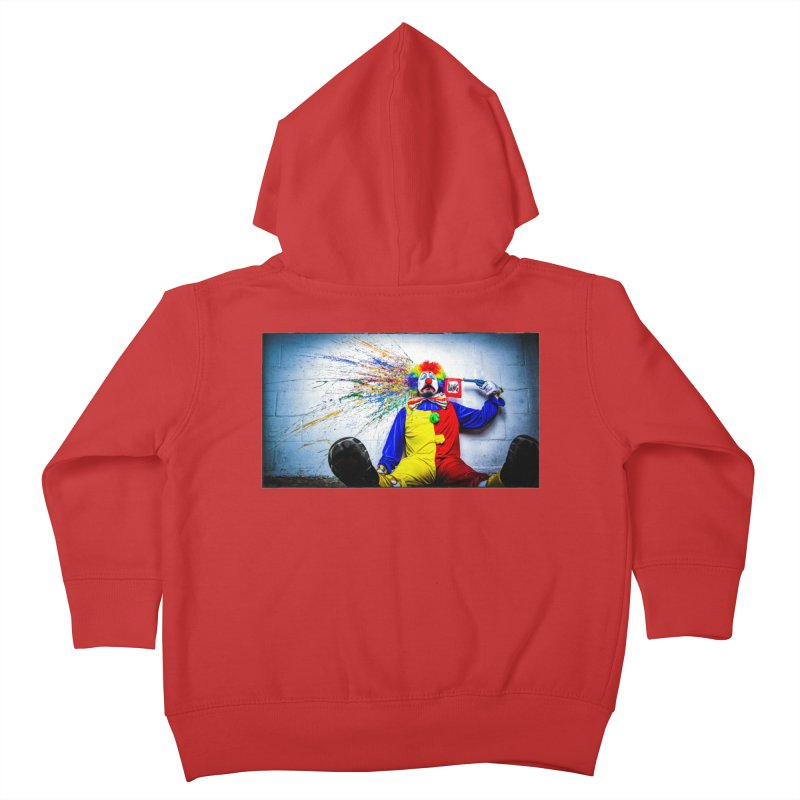 tears of a clown Kids Toddler Zip-Up Hoody by the twisted world of godriguezart