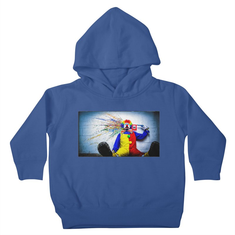 tears of a clown Kids Toddler Pullover Hoody by the twisted world of godriguezart