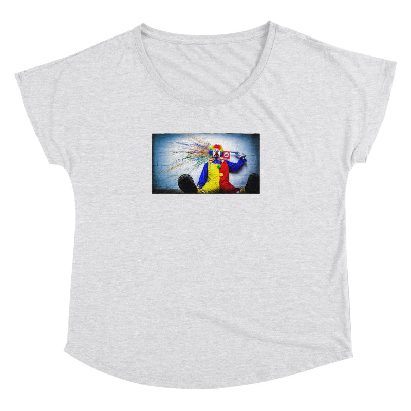 tears of a clown Women's Dolman Scoop Neck by the twisted world of godriguezart