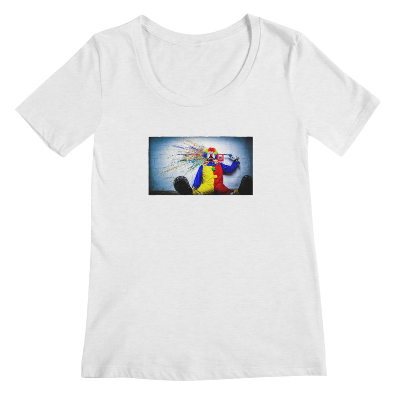 tears of a clown Women's Regular Scoop Neck by the twisted world of godriguezart
