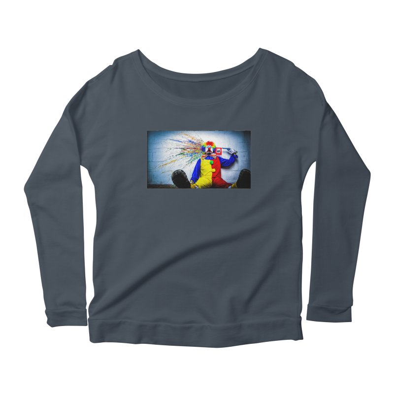tears of a clown Women's Scoop Neck Longsleeve T-Shirt by the twisted world of godriguezart
