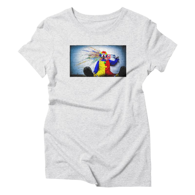tears of a clown Women's Triblend T-Shirt by the twisted world of godriguezart