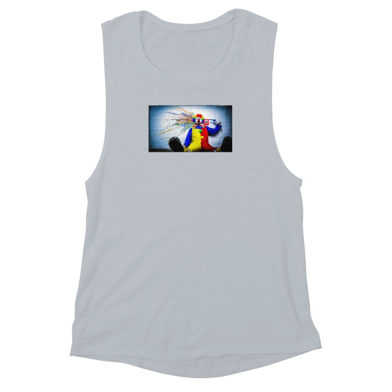 tears of a clown Women's Muscle Tank by the twisted world of godriguezart