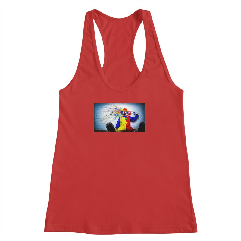 tears of a clown Women's Racerback Tank by the twisted world of godriguezart