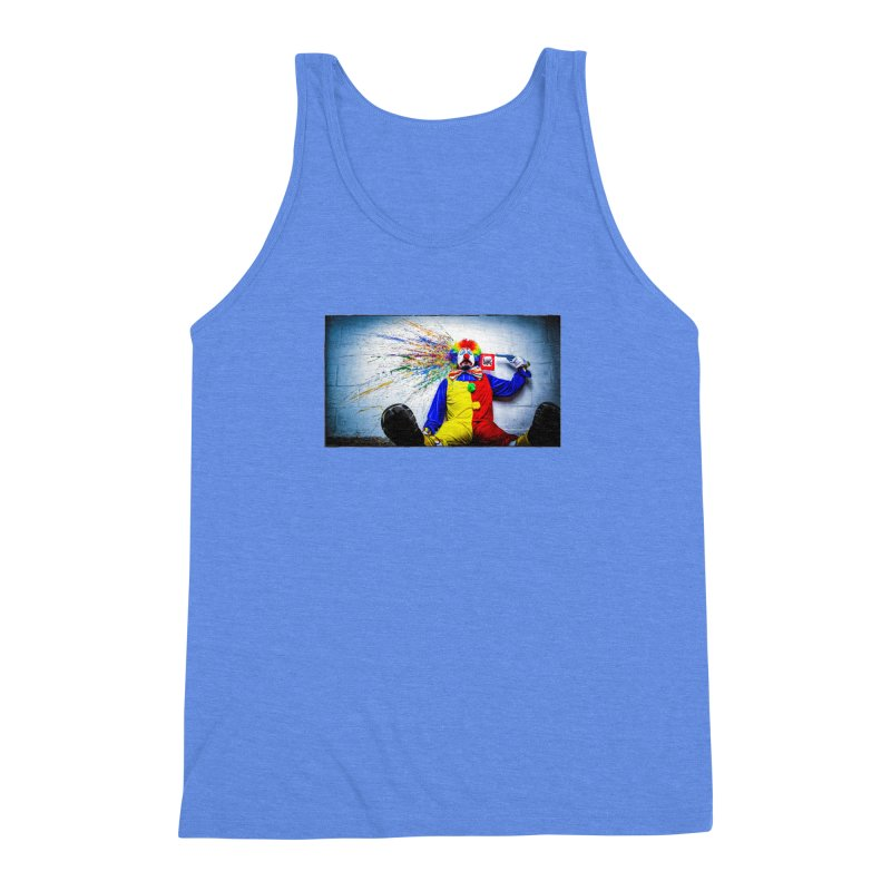 tears of a clown Men's Triblend Tank by the twisted world of godriguezart
