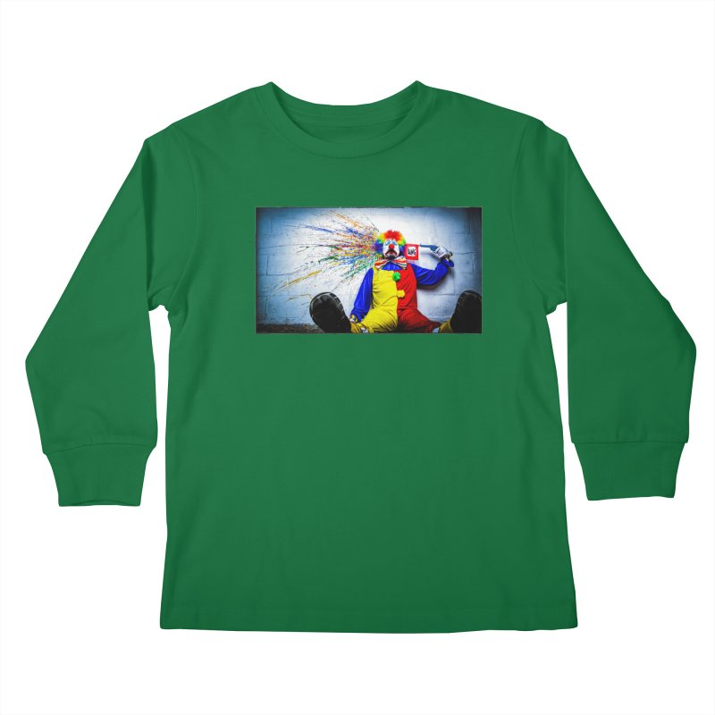 tears of a clown Kids Longsleeve T-Shirt by the twisted world of godriguezart