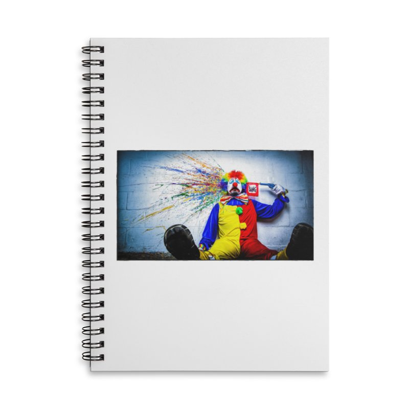 tears of a clown Accessories Lined Spiral Notebook by the twisted world of godriguezart