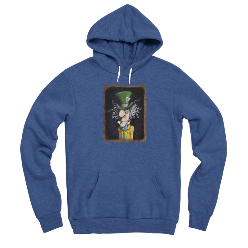 we're all mad here! Men's Sponge Fleece Pullover Hoody by the twisted world of godriguezart