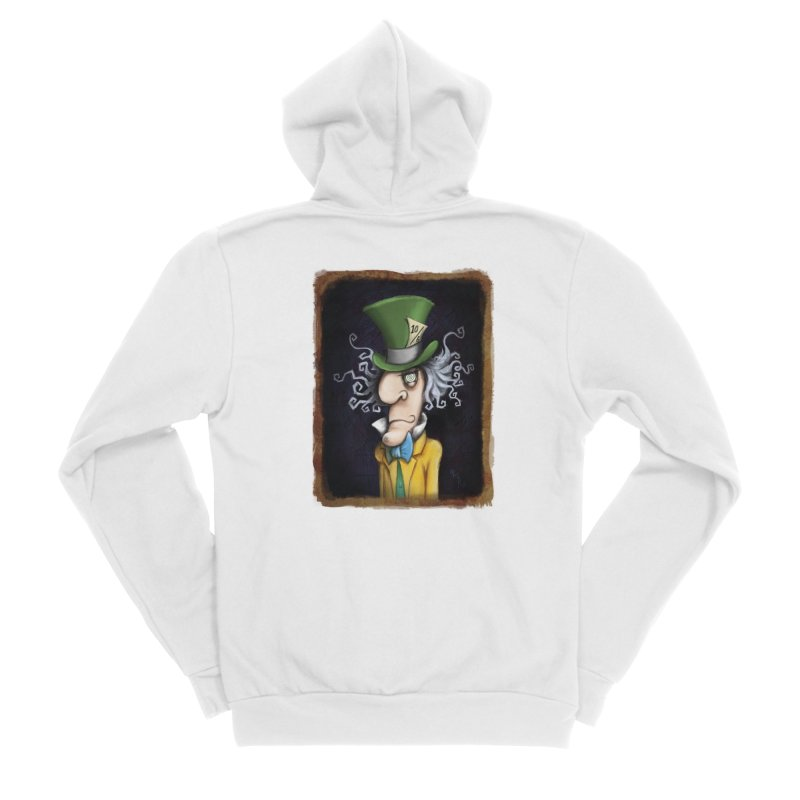 we're all mad here! Women's Sponge Fleece Zip-Up Hoody by the twisted world of godriguezart