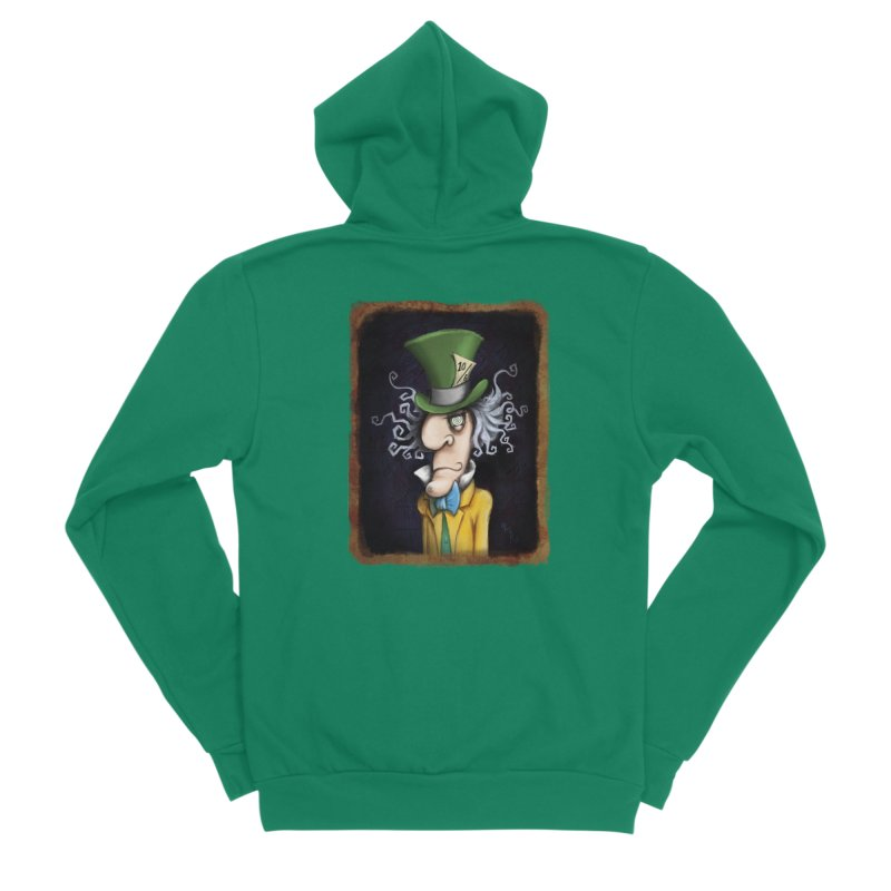 we're all mad here! Men's Sponge Fleece Zip-Up Hoody by the twisted world of godriguezart
