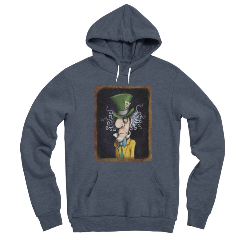 we're all mad here! Women's Sponge Fleece Pullover Hoody by the twisted world of godriguezart