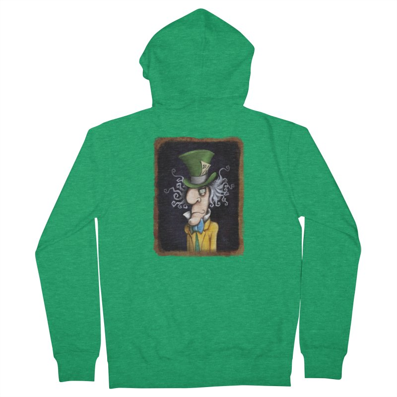 we're all mad here! Men's Zip-Up Hoody by the twisted world of godriguezart