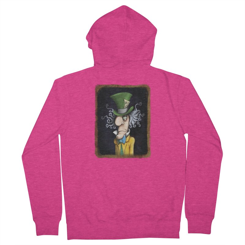 we're all mad here! Women's French Terry Zip-Up Hoody by the twisted world of godriguezart