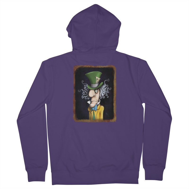 we're all mad here! Women's Zip-Up Hoody by the twisted world of godriguezart