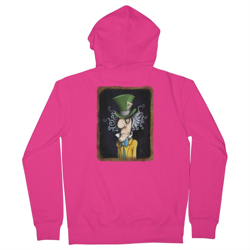 we're all mad here! Men's French Terry Zip-Up Hoody by the twisted world of godriguezart