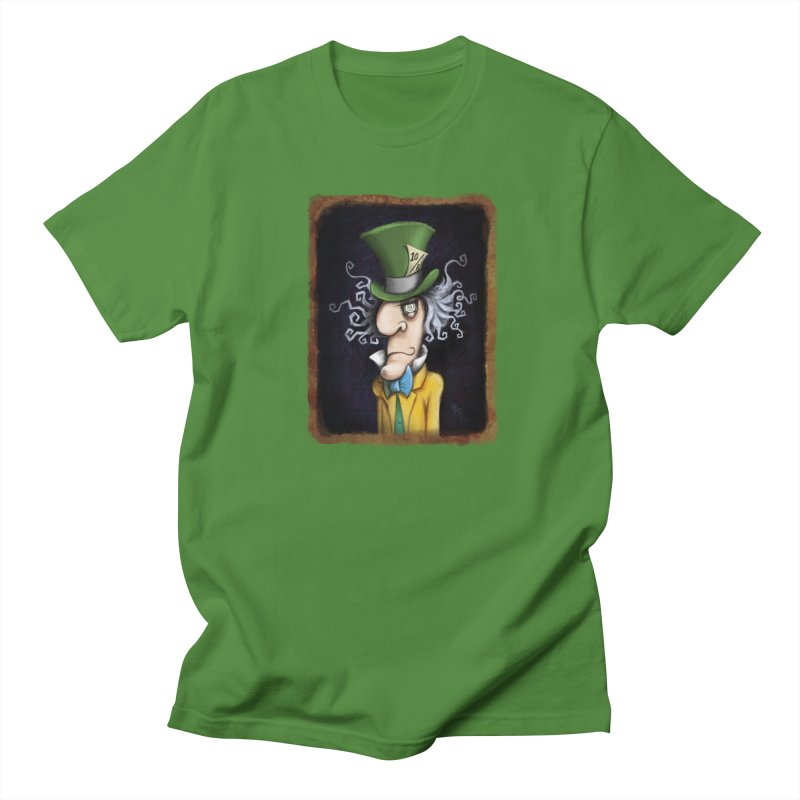 we're all mad here! Men's Regular T-Shirt by the twisted world of godriguezart