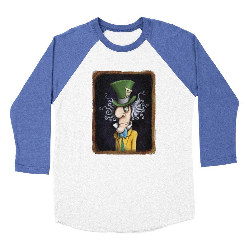 we're all mad here! Women's Baseball Triblend Longsleeve T-Shirt by the twisted world of godriguezart
