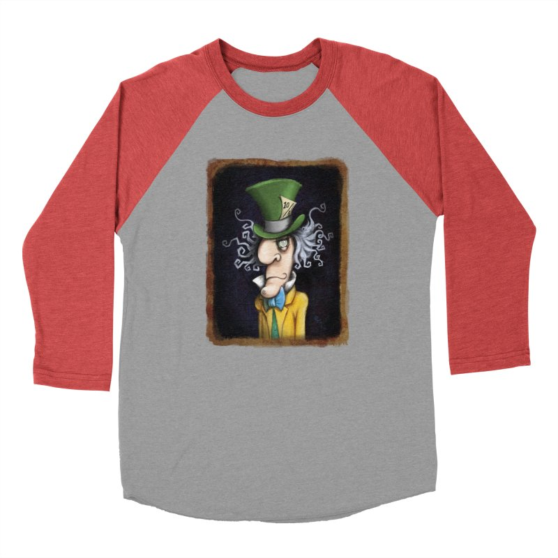 we're all mad here! Men's Baseball Triblend Longsleeve T-Shirt by the twisted world of godriguezart
