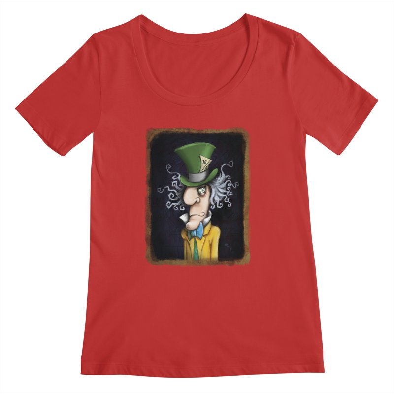 we're all mad here! Women's Regular Scoop Neck by the twisted world of godriguezart