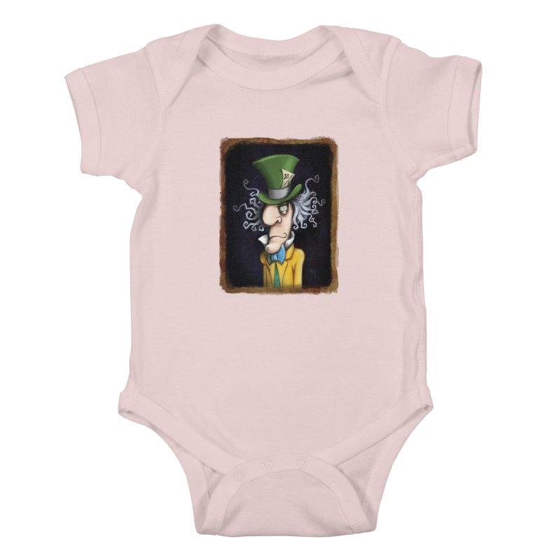 we're all mad here! Kids Baby Bodysuit by the twisted world of godriguezart