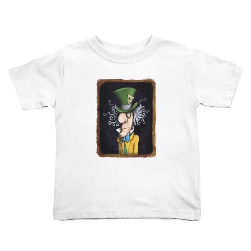 we're all mad here! Kids Toddler T-Shirt by the twisted world of godriguezart