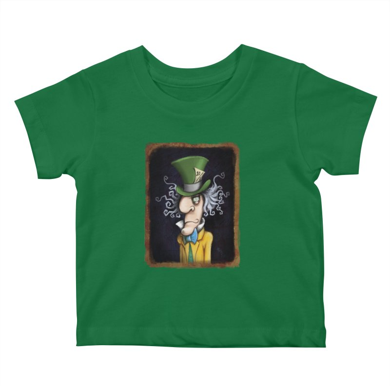 we're all mad here! Kids Baby T-Shirt by the twisted world of godriguezart