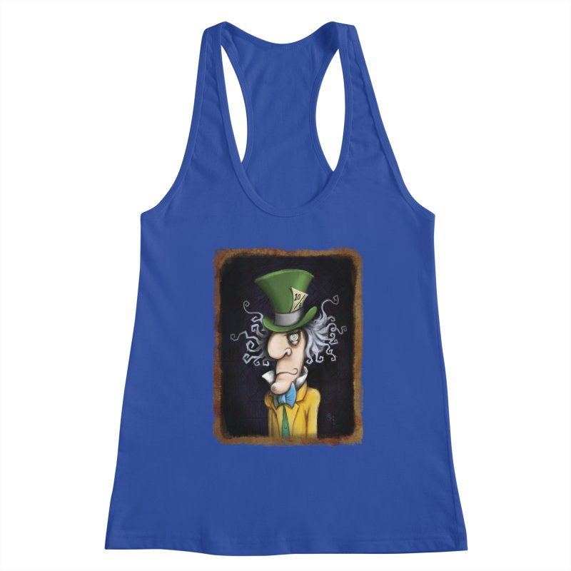 we're all mad here! Women's Racerback Tank by the twisted world of godriguezart