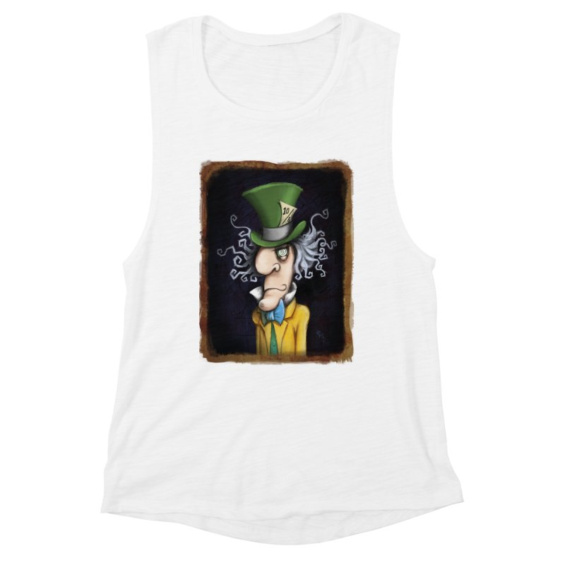 we're all mad here! Women's Muscle Tank by the twisted world of godriguezart
