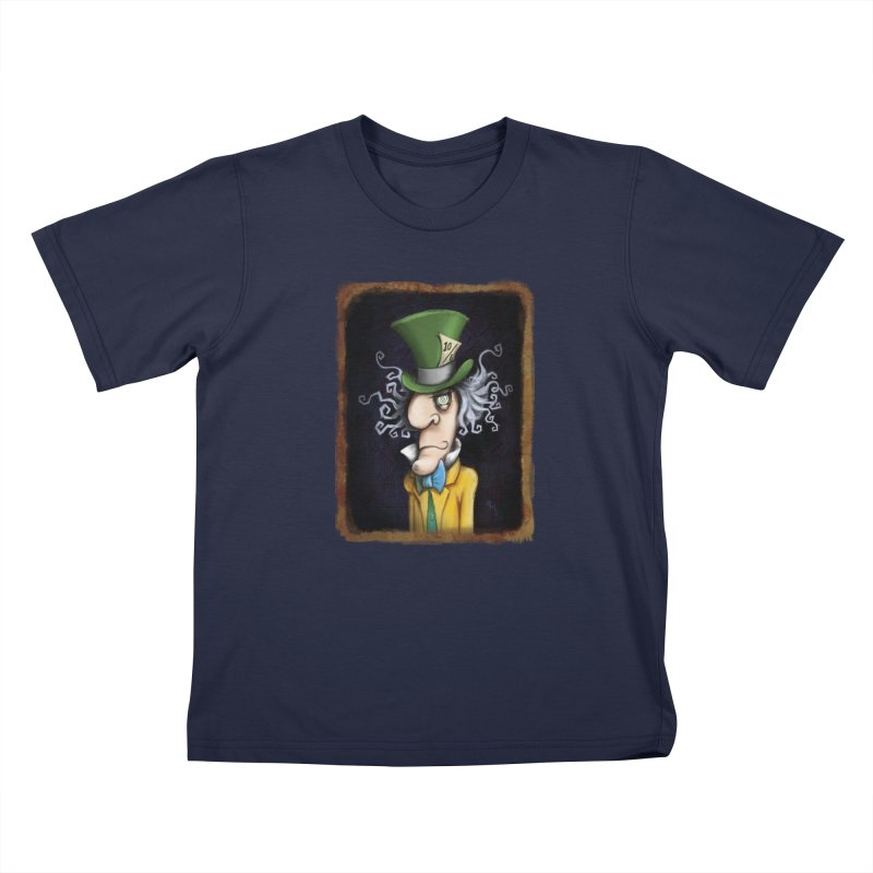 we're all mad here! Kids T-Shirt by the twisted world of godriguezart