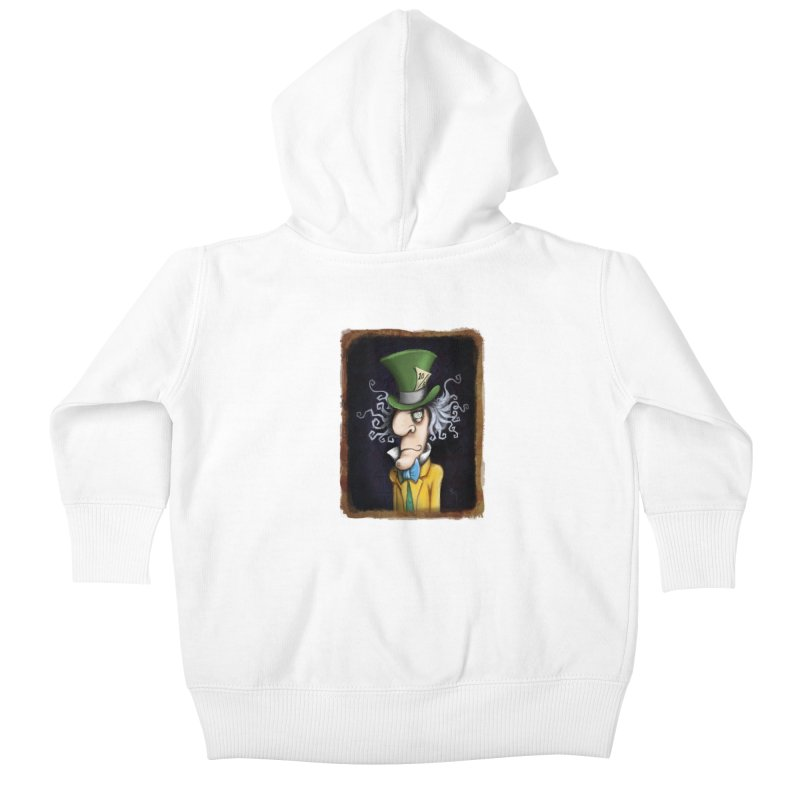 we're all mad here! Kids Baby Zip-Up Hoody by the twisted world of godriguezart