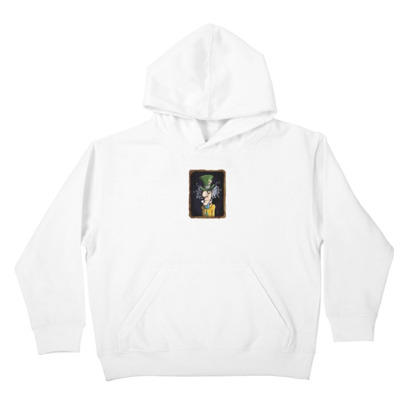 we're all mad here! Kids Pullover Hoody by the twisted world of godriguezart