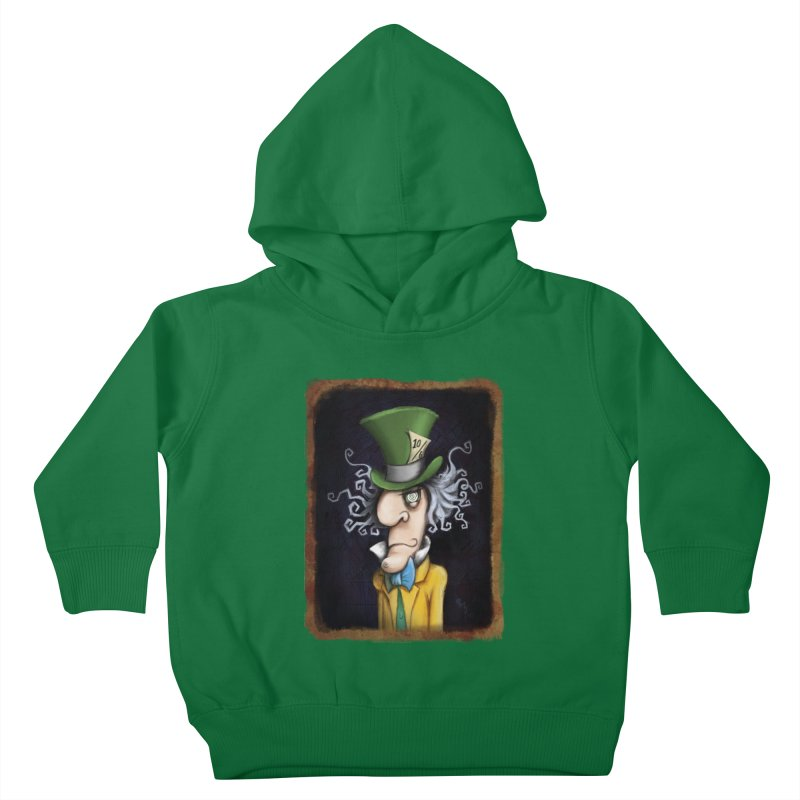 we're all mad here! Kids Toddler Pullover Hoody by the twisted world of godriguezart