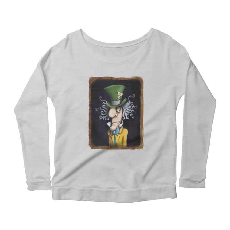 we're all mad here! Women's Scoop Neck Longsleeve T-Shirt by the twisted world of godriguezart