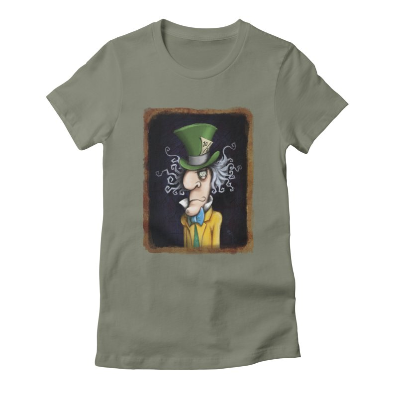 we're all mad here! Women's Fitted T-Shirt by the twisted world of godriguezart