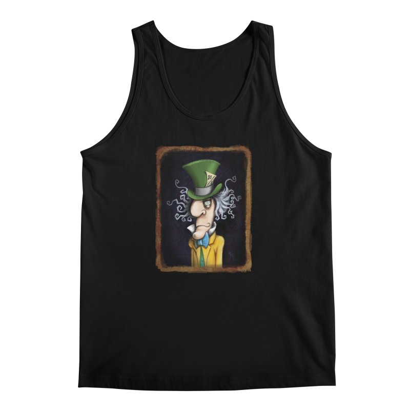 we're all mad here! Men's Regular Tank by the twisted world of godriguezart