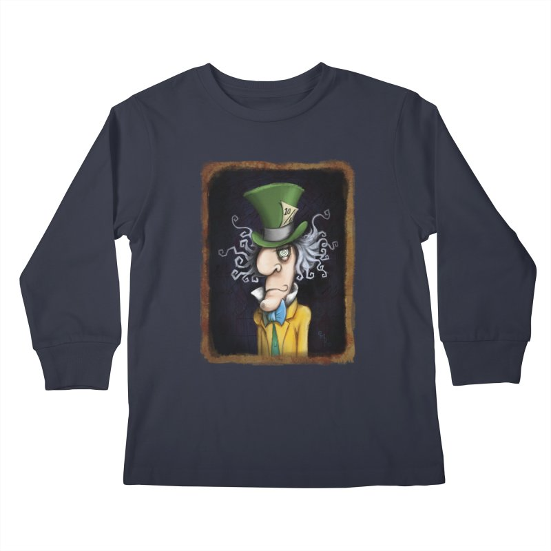we're all mad here! Kids Longsleeve T-Shirt by the twisted world of godriguezart