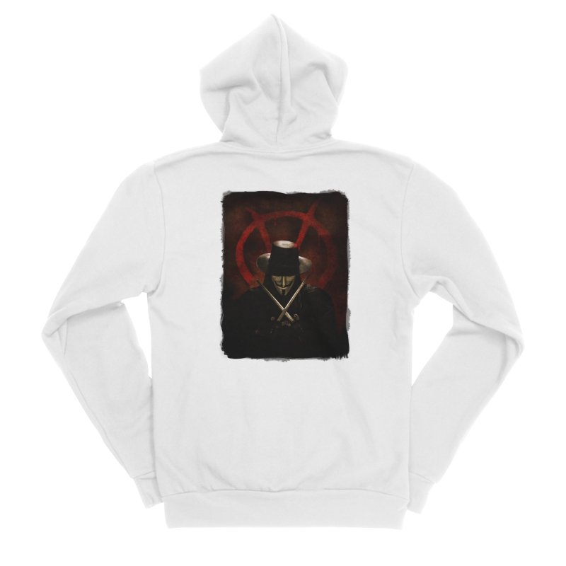remember, remember, the fifth of november Men's Sponge Fleece Zip-Up Hoody by the twisted world of godriguezart