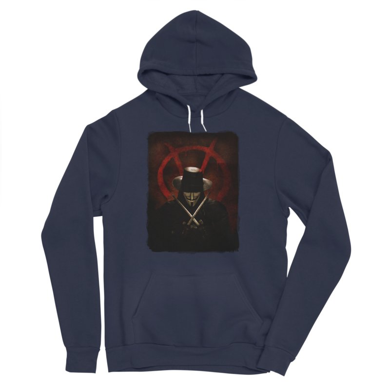 remember, remember, the fifth of november Women's Sponge Fleece Pullover Hoody by the twisted world of godriguezart