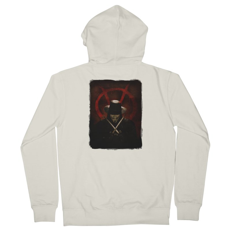 remember, remember, the fifth of november Women's French Terry Zip-Up Hoody by the twisted world of godriguezart
