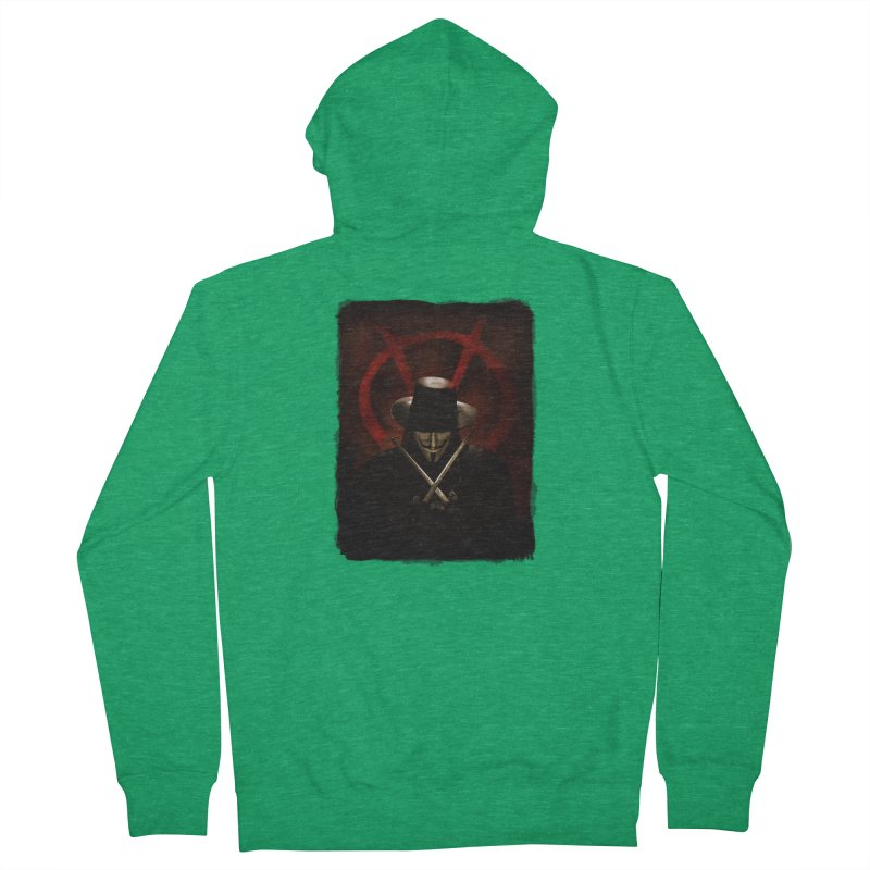 remember, remember, the fifth of november Men's Zip-Up Hoody by the twisted world of godriguezart