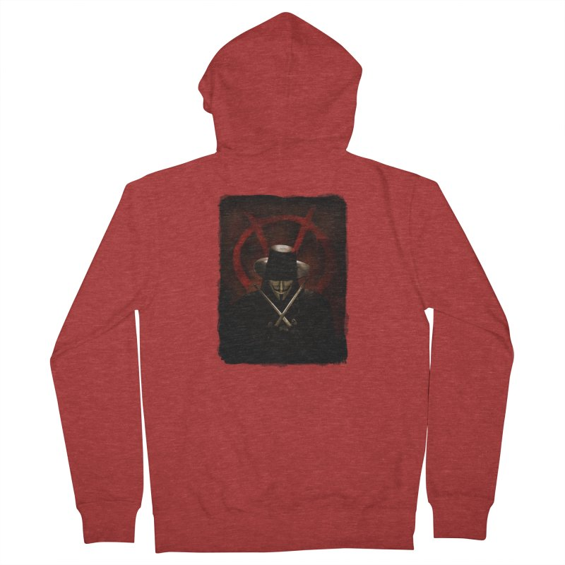 remember, remember, the fifth of november Men's French Terry Zip-Up Hoody by the twisted world of godriguezart